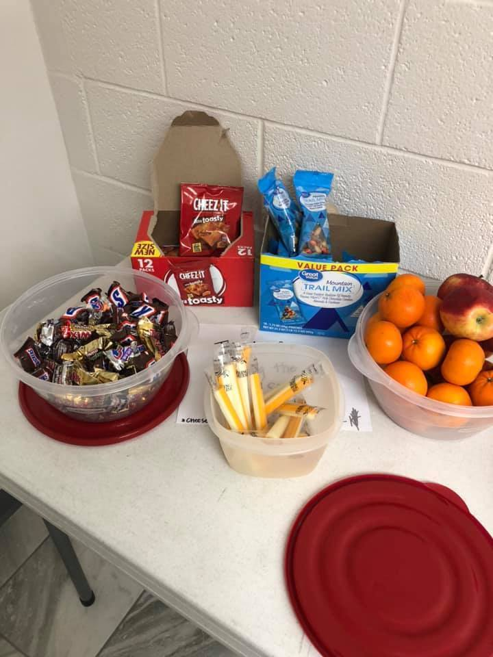 snacks and candy for teachers